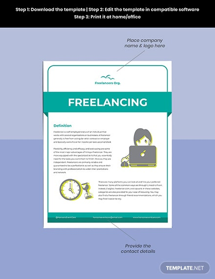 Freelance Fact Sheet Template Download