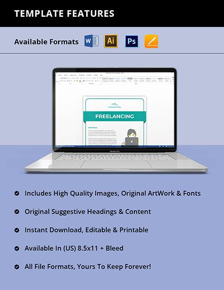 Freelance Fact Sheet Template Instruction