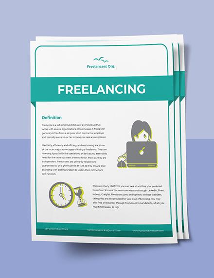 Freelance Fact Sheet Template Sample