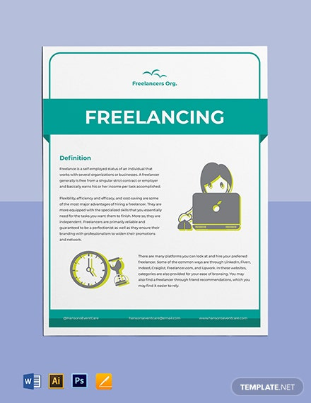 Freelance Fact Sheet Template