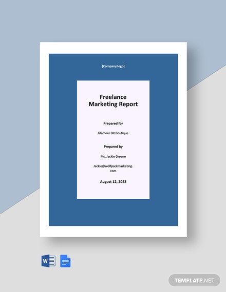 Freelance Marketing Report Template