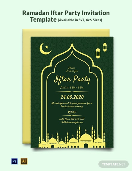 Ramadan Iftar Party Invitation Template