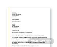 Free Application Letter Template For a Job Vacancy