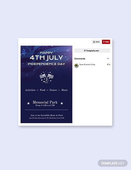Free 4th of July Pinterest Pin