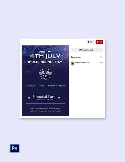 Free 4th of July Pinterest Pin