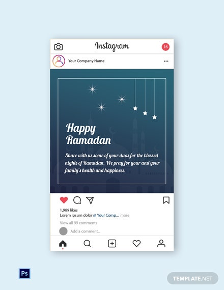 Ramadan Instagram Post Template