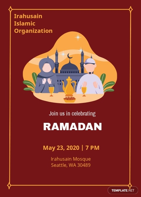 Ramadan Invitation Card Template