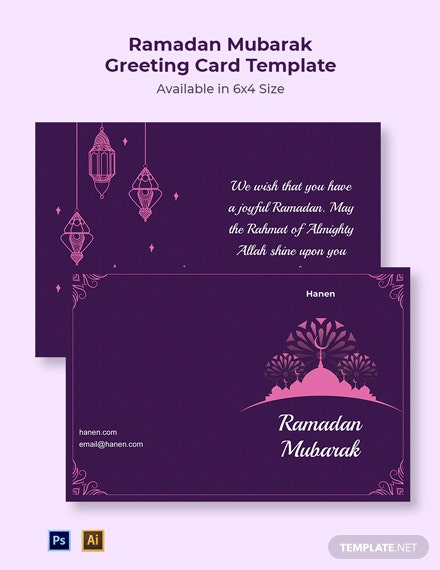 Ramadan Mubarak Greeting Card Template