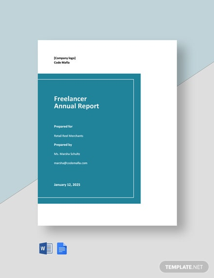 Freelancer Annual Report Template