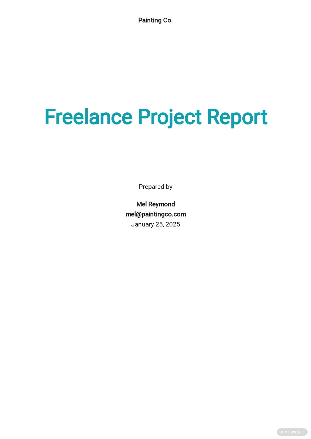 Freelance Project Report Template