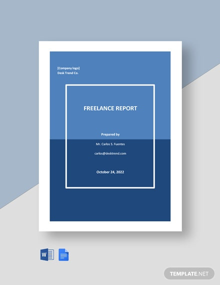 Freelancer Report Template