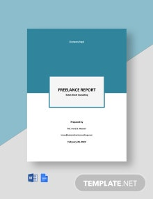 Free Basic Freelance Report Template