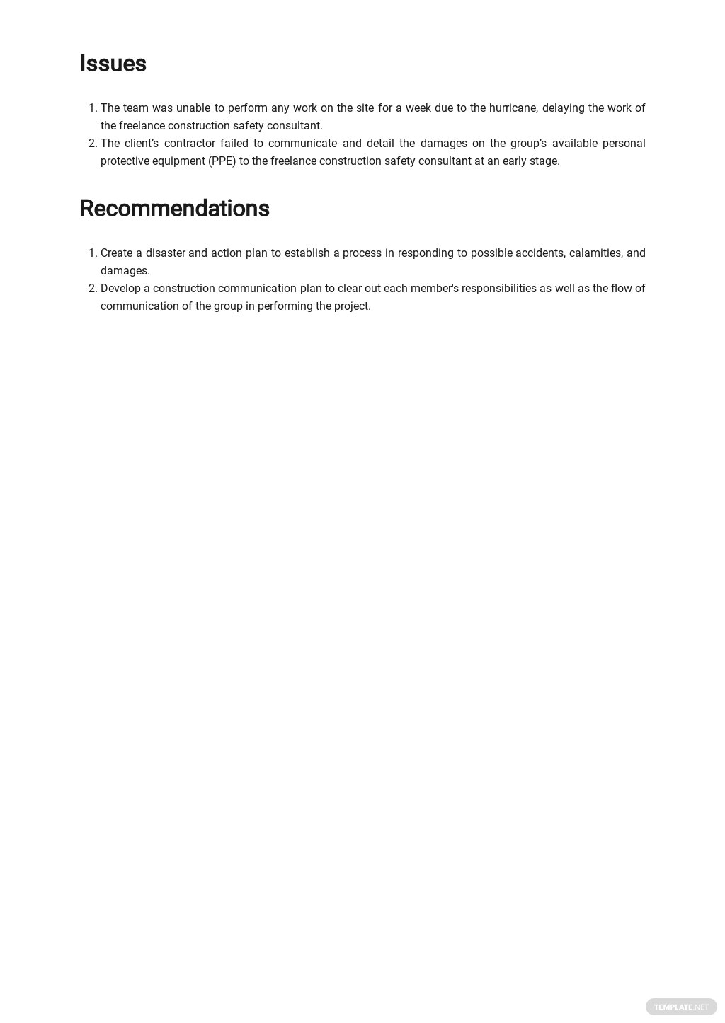 Free Basic Freelance Report Template 2.jpe