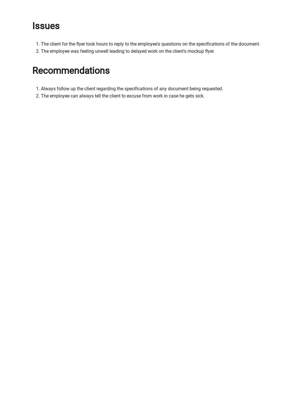 Free Simple Freelance Report Template 2.jpe