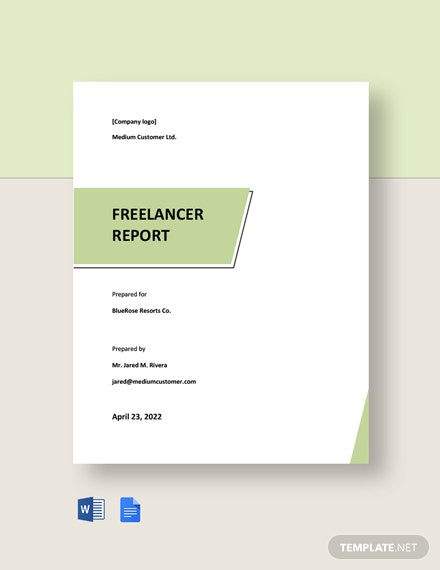 Free Simple Freelance Report