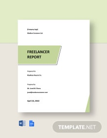 Free Simple Freelance Report Template