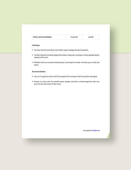 Sample Free Simple Freelance Report