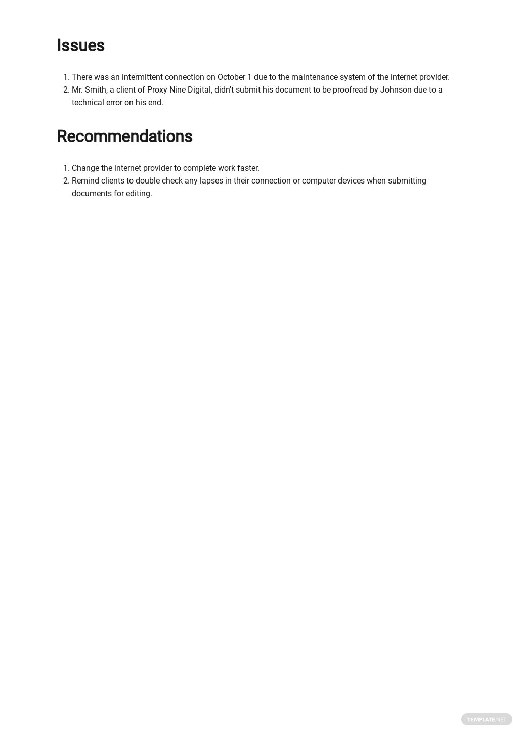 Free Sample Freelance Report Template 2.jpe