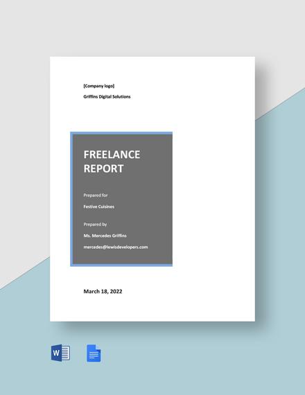 Free Sample Freelance Report Template