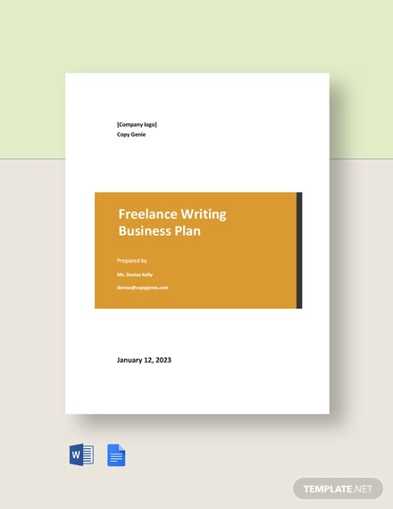 Freelance Writing Business Plan Template