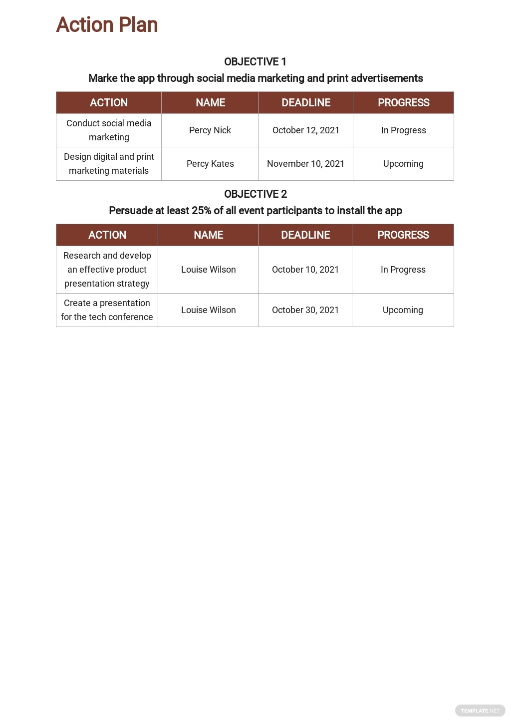 Free Sample Freelance Marketing Plan Template 5.jpe