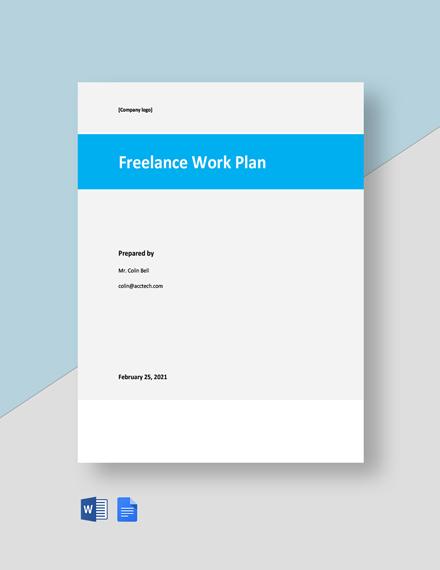 Free Sample Freelance Plan Template