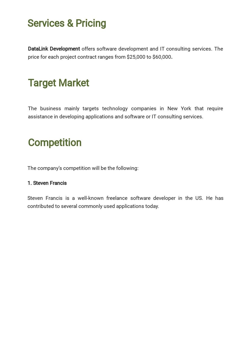 Free Simple Freelance Business Plan Template 2.jpe