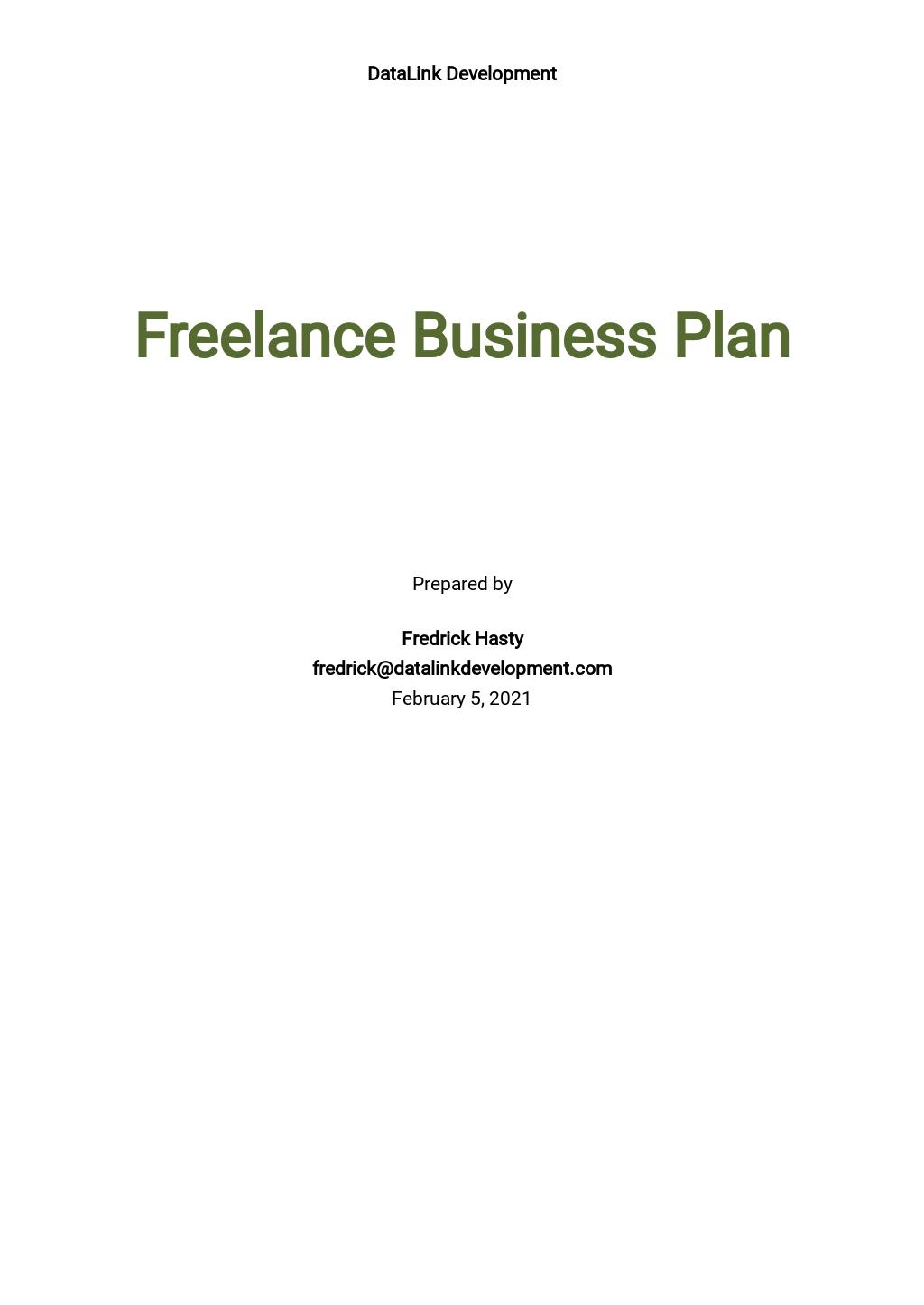 Free Simple Freelance Business Plan Template.jpe