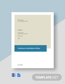 Freelance Cancellation Policy Template