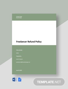 Freelancer Refund Policy Template
