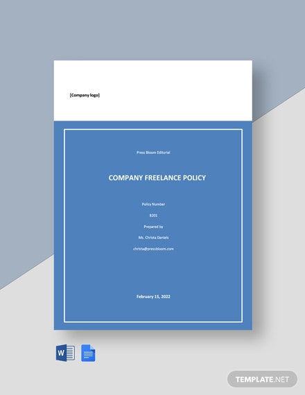 Simple Company Freelance Policy Template