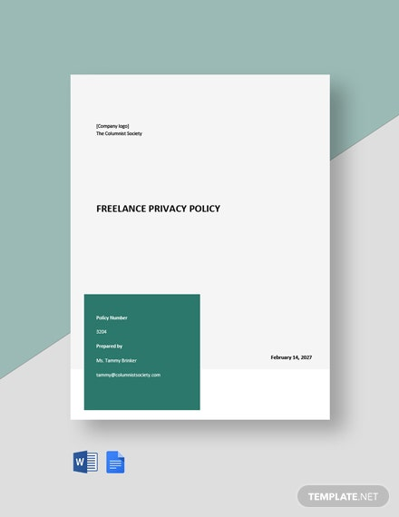 Free Sample Freelance Privacy Policy Template