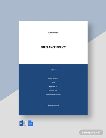 Free Simple Freelance Policy Template