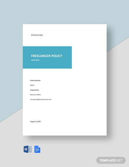 Free Sample Freelancer Policy Template