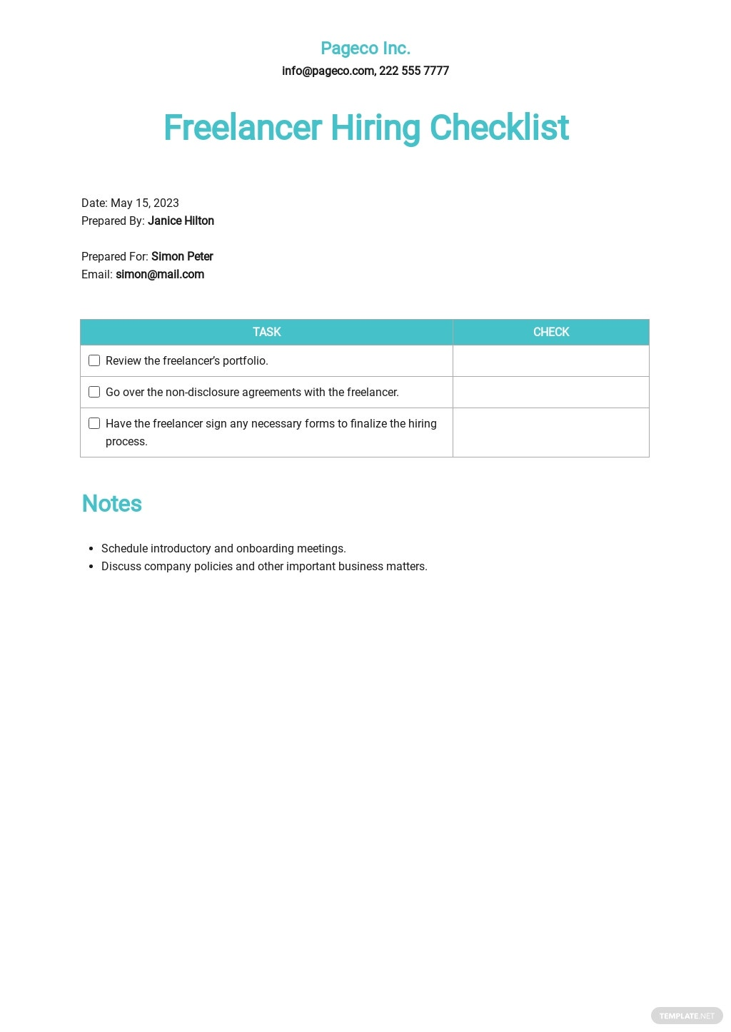Freelancer Hiring Checklist Template.jpe