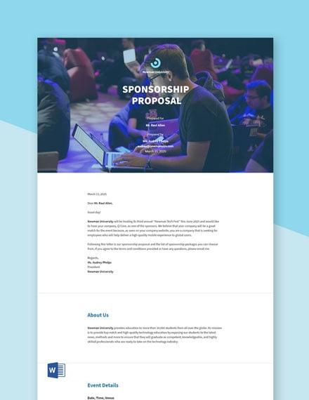 Sponsorship Proposal Sample Template