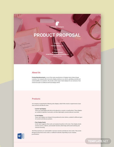 Product Proposal Sample Template