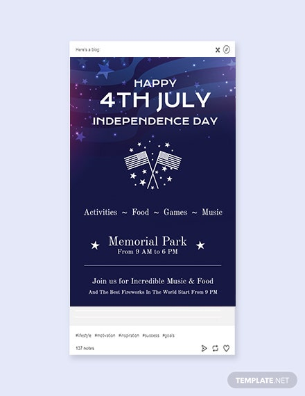 FREE 4th of July Tumblr Post Template - PSD | Template net