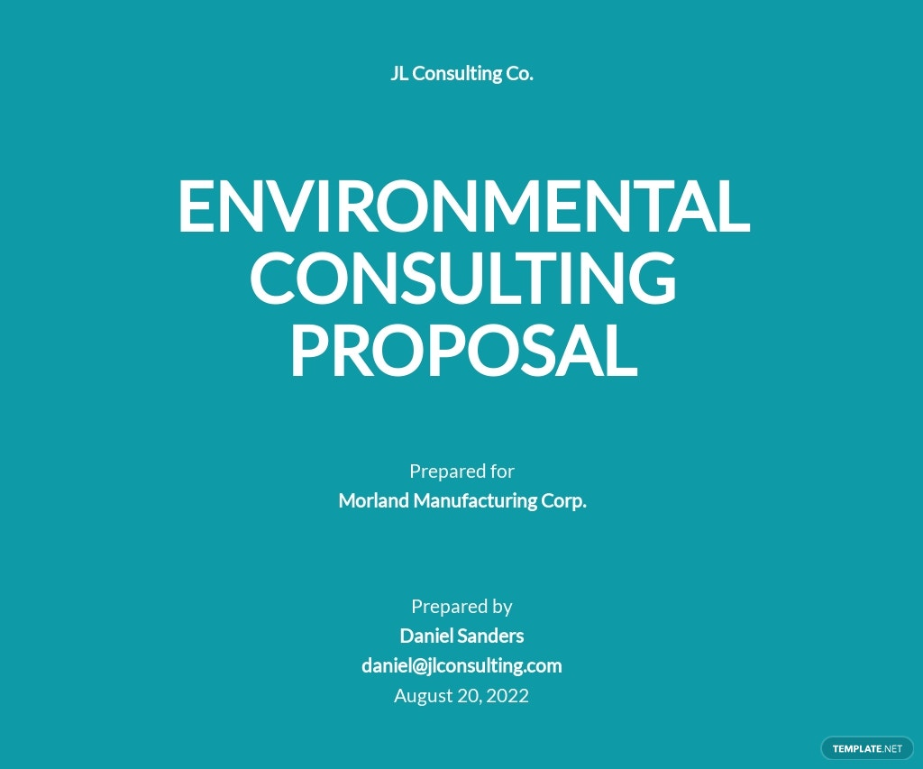 Consultant Proposal Sample Template
