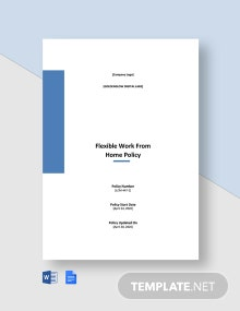 Flexible Work From Home Policy Template