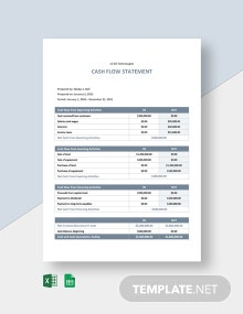 Freelance Cash Flow Sheet Template