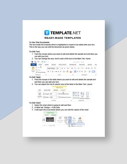 Professional Client Progress Report Instruction