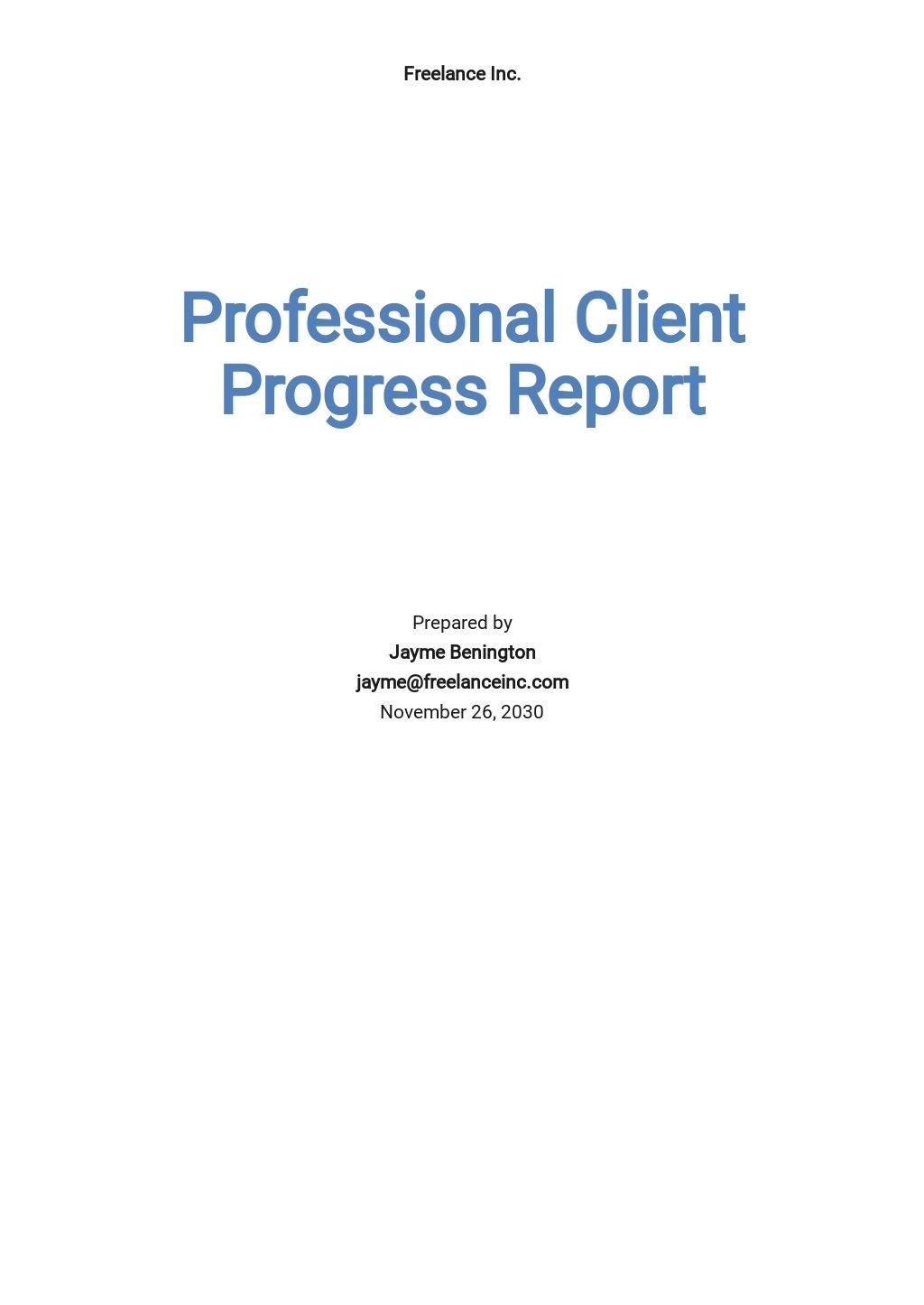 Professional Client Progress Report Template.jpe