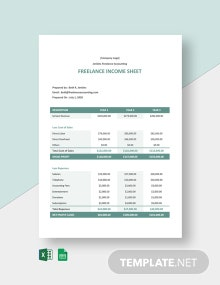 Freelance Income Sheet Template