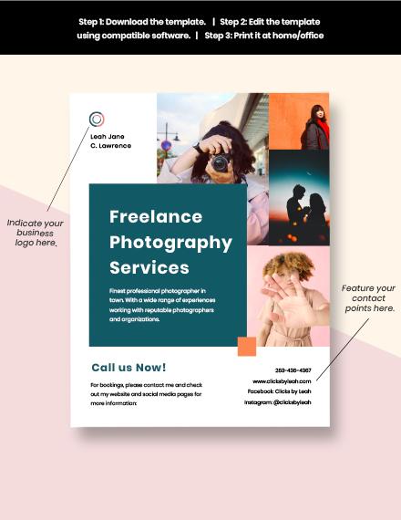 Freelance Advertisement Flyer Template download