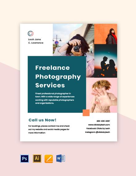 Freelance Advertisement Flyer Template