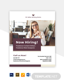Freelancer Job Flyer Template