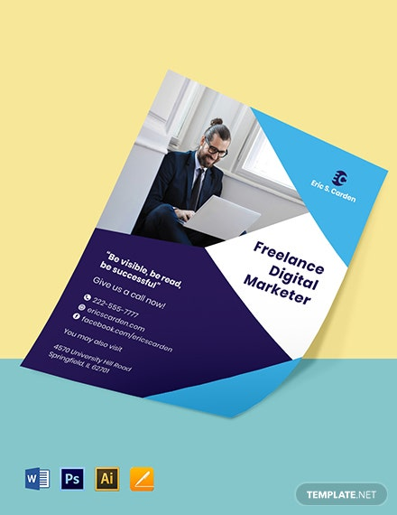 Freelance Hire Flyer Template