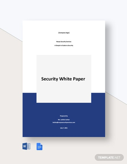 Free Simple Security White Paper Template