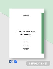 COVID 19 Work From Home Policy Template